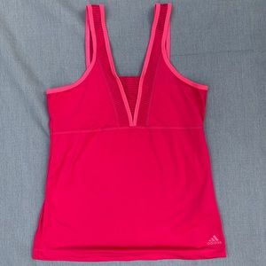 adidas workout top, bright pink size M